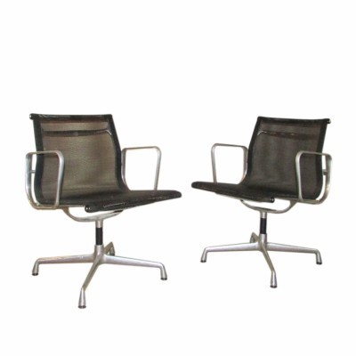 Set of 2 EA 107 arm chairs from the fifties by Charles & Ray Eames for Vitra
