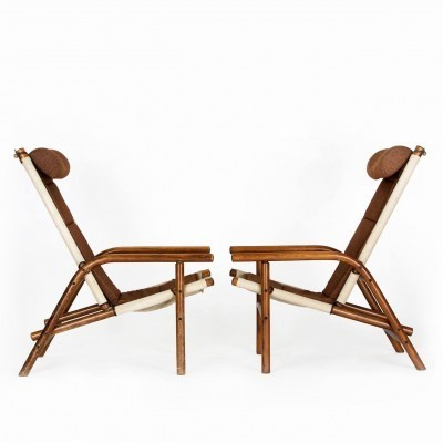 2 x Thonet lounge chair, 1930s