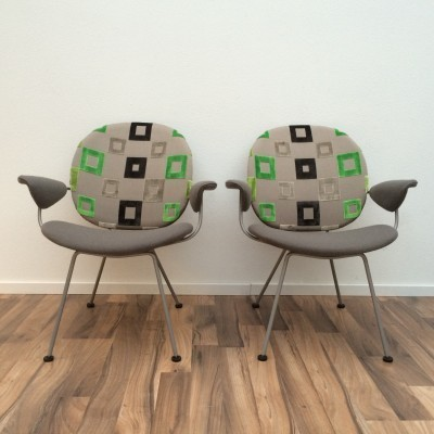 Pair of 302 (Triennale) lounge chairs by W. Gispen for Kembo, 1950s