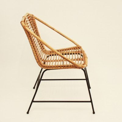Rattan arm chair from the seventies by unknown designer for unknown producer