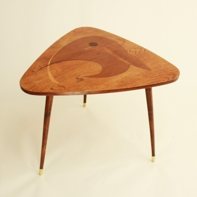 Tripod coffee table from the sixties by unknown designer for unknown producer