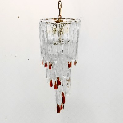 Cascata Pendant hanging lamp from the sixties by Carlo Nason for Mazzega