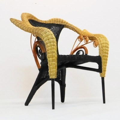 Liba arm chair from the eighties by Borek Sipek for unknown producer