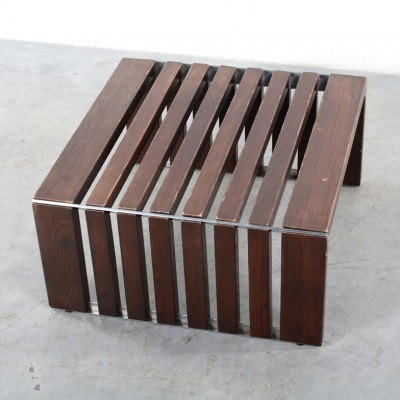 Slat Bench coffee table by Walter Antonis for Spectrum, 1970s