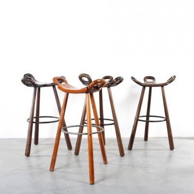 Bar stool from the seventies by unknown designer for unknown producer