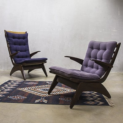2 arm chairs from the forties by Jan den Drijver for Gelderland