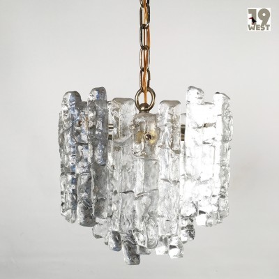Ice Glass Hanging Lamp by Unknown Designer for Kalmar