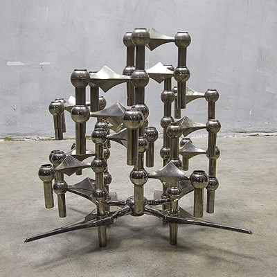 Candle Holders by Fritz Nagel for BMF, 1950s