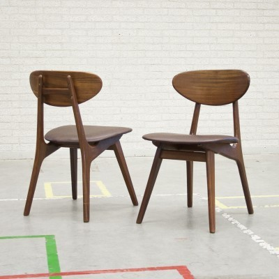 Pair of dining chairs by Louis van Teeffelen for AWA