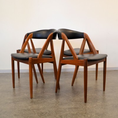 Set of 4 Kai Kristiansen dinner chairs, 1950s