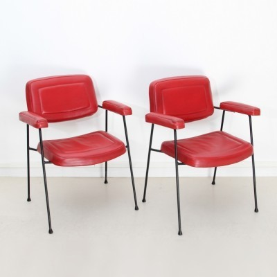 Pair of CM197 arm chairs by Pierre Paulin for Thonet, 1950s