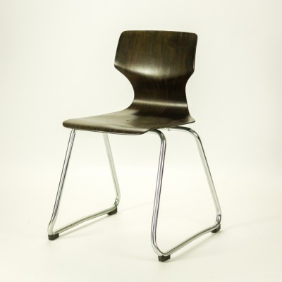 Set of 6 Pagholz dining chairs by Adam Stegner for Flötotto, 1960s