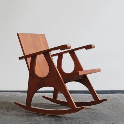 Rocking chair from the sixties by unknown designer for unknown producer