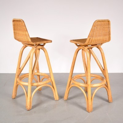 2 stools from the fifties by Dirk van Sliedregt for Gebroeders Jonkers