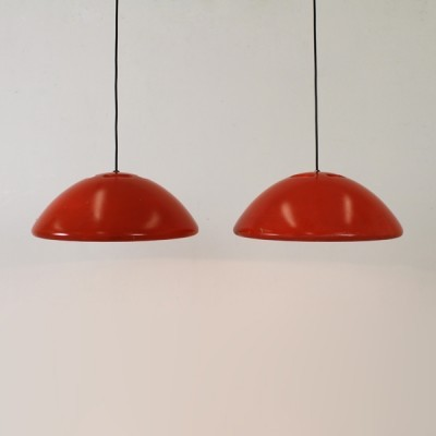 Set of 2 Data 1 hanging lamps from the seventies by Bjarne Bo for Fog & Mørup