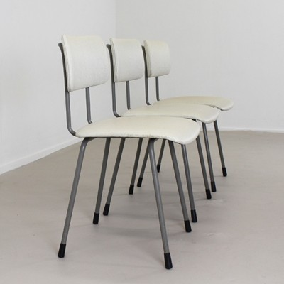 Set of 3 model 1262 dinner chairs by André Cordemeyer for Gispen, 1950s
