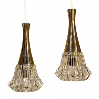 Set of 2 hanging lamps from the sixties by unknown designer for unknown producer