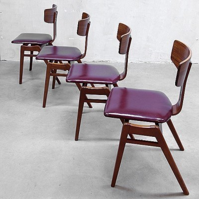 Pair of dinner chairs by Cees Braakman for Pastoe, 1950s
