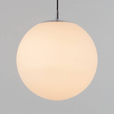 2 x XL Opaque Globe hanging lamp by Peill & Putzler, 1970s