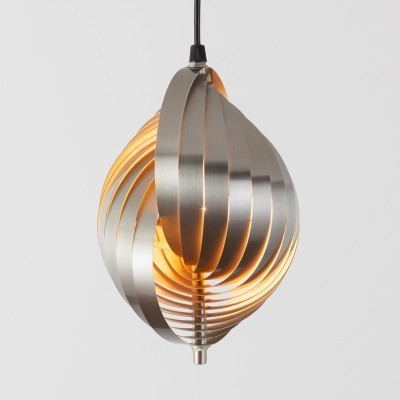 Twirling Pendant hanging lamp from the sixties by Henri Mathieu for unknown producer