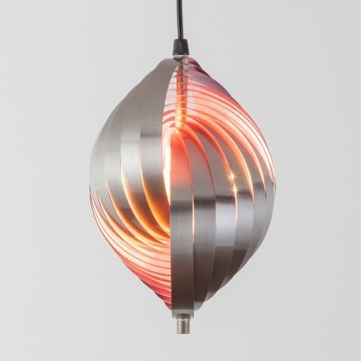3 Twirling Pendant hanging lamps by Henri Mathieu for unknown producer