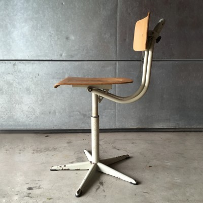 Office chair from the fifties by unknown designer for De Wit