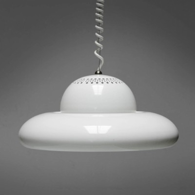 White Fior Di Loto hanging lamp from the sixties by Afra Scarpa & Tobia Scarpa for Flos