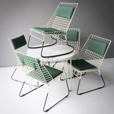 Set of 5 Flamingo rocking chairs from the sixties by Cees Braakman for Pastoe