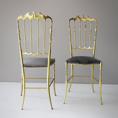 Pair of Chiavari dining chairs, 1950s