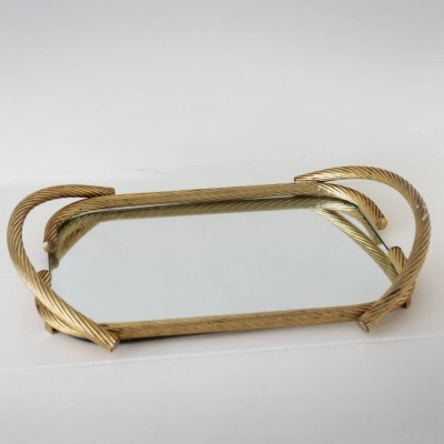 French Rope Mirror Serving Tray