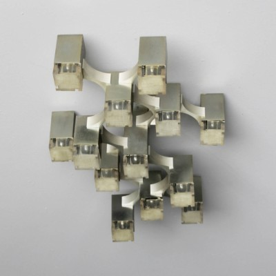 Cubic ceiling lamp by Gaetano Sciolari for Sciolari, 1960s