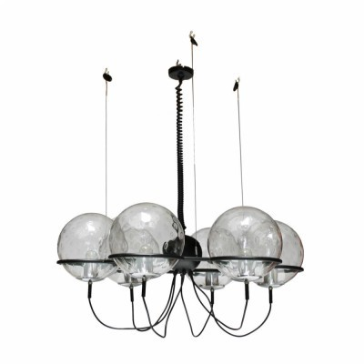 Saturnus Chandelier hanging lamp from the sixties by unknown designer for Raak Amsterdam