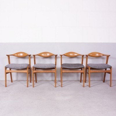 Set of 4 No. 49 dinner chairs from the forties by Erik Kirkegaard for Høng Stolefabrik