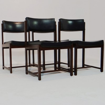 Set of 4 dinner chairs from the sixties by Pieter Debruyne for V Form