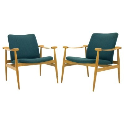 Pair of Spade lounge chairs by Finn Juhl for France & Son, 1950s