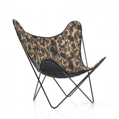Butterfly Chair / Carhartt-Edition lounge chair from the thirties by Jorge Ferrari Hardoy for unknown producer