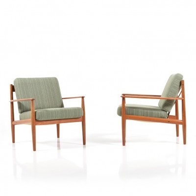 Set of 2 model 118 lounge chairs from the fifties by Grete Jalk for France & Son