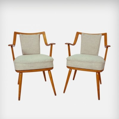 Set Of 2 German Beechwood Easy Chairs from Casala, 1950s