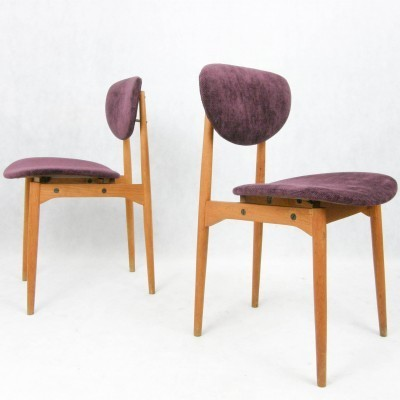 2 dinner chairs from the fifties by unknown designer for unknown producer