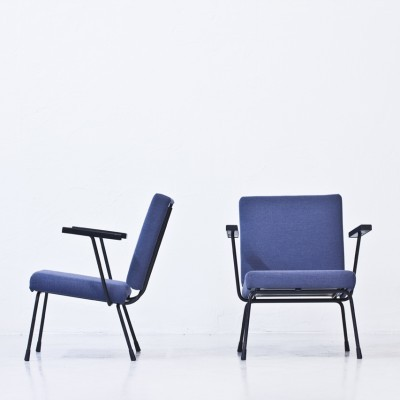 Set of 2 model 1401 arm chairs from the fifties by Wim Rietveld for Gispen
