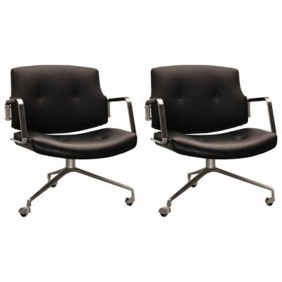 2 Swivel lounge chairs from the sixties by Jørgen Kastholm & Preben Fabricius for Kill International