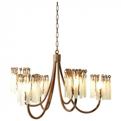 3 Rusty Chandelier hanging lamps from the eighties by Annette Van Egmond for Brand van Egmond