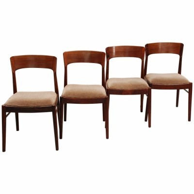 Set of 4 palisander dinner chair by Kai Kristiansen