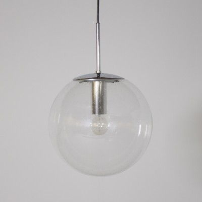 3 Globe hanging lamps from the sixties by unknown designer for Limburg Glashutte