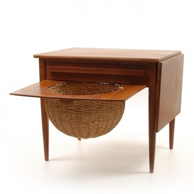 Sewing Table by Johannes Andersen for Silkeborg Denmark, 1960s