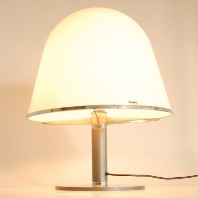 Mushroom desk lamp from the sixties by Harvey Guzzini for iGuzzini