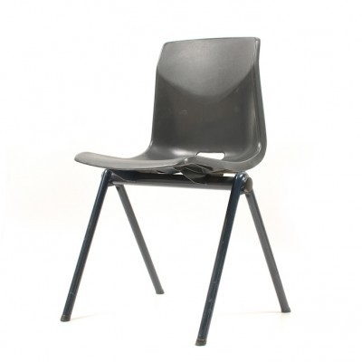 Galvanitas school chair with plastic curver seat