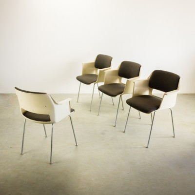 Set of 4 model 2215 dinner chairs from the sixties by André Cordemeyer for Gispen