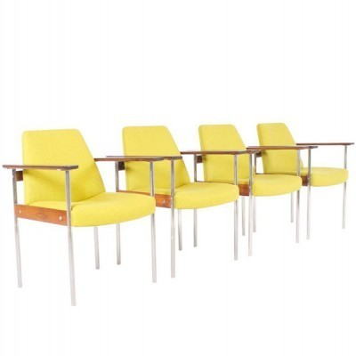 Set of 4 dinner chairs from the fifties by Sven Ivar Dysthe for Dokka Möbler