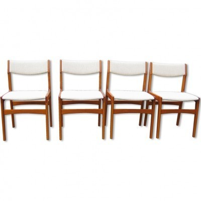 Set of 4 Model No.088 dinner chairs from the sixties by unknown designer for Anderstrup Møbelfabrik